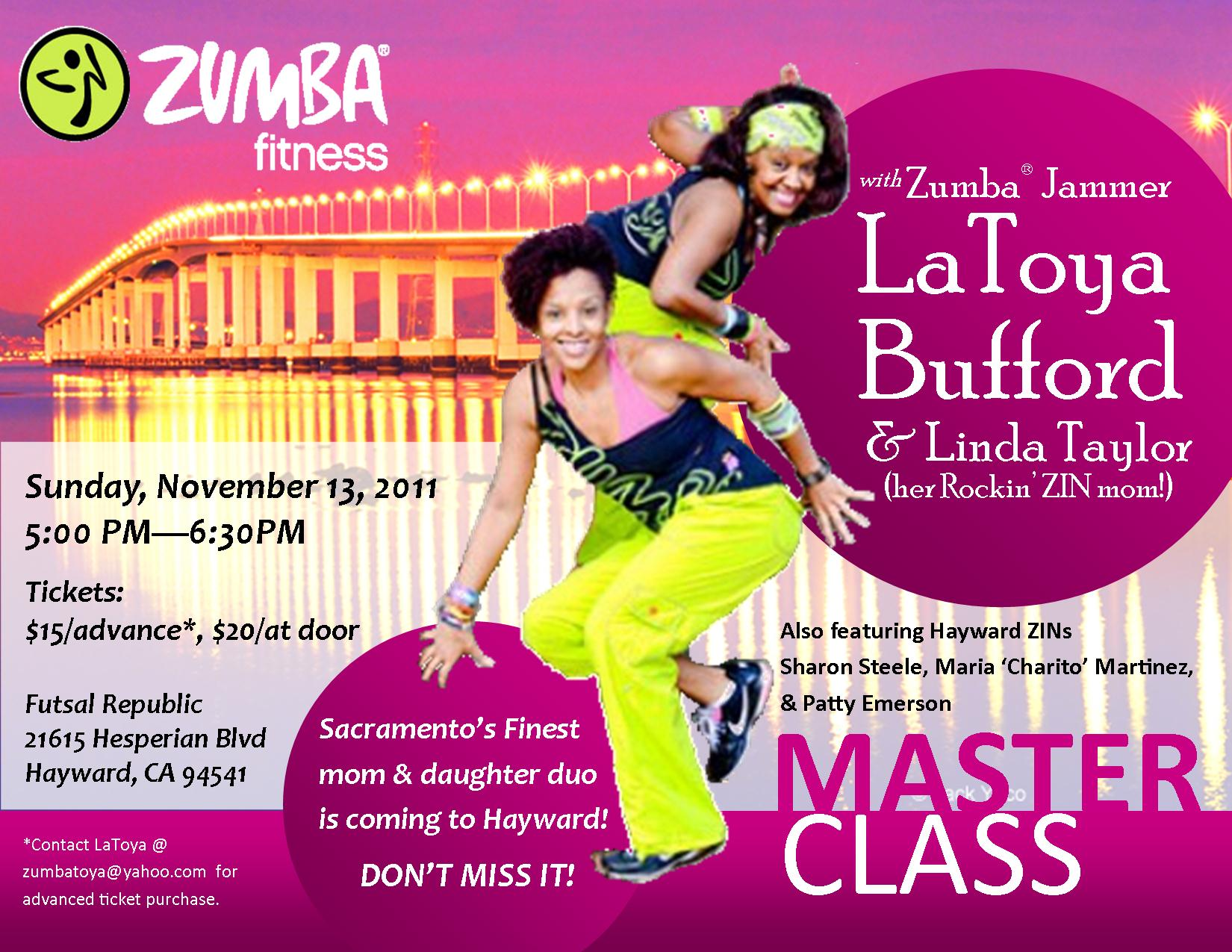Zumba Class Flyer Only licensed zumba fitnessZumba Class Flyer
